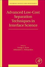 Advanced Low-Cost Separation Techniques in Interface Science: Volume 30
