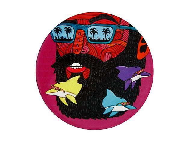 Maxwell & Williams: Mulga the Artist Ceramic Round Coaster - Dolphin Man