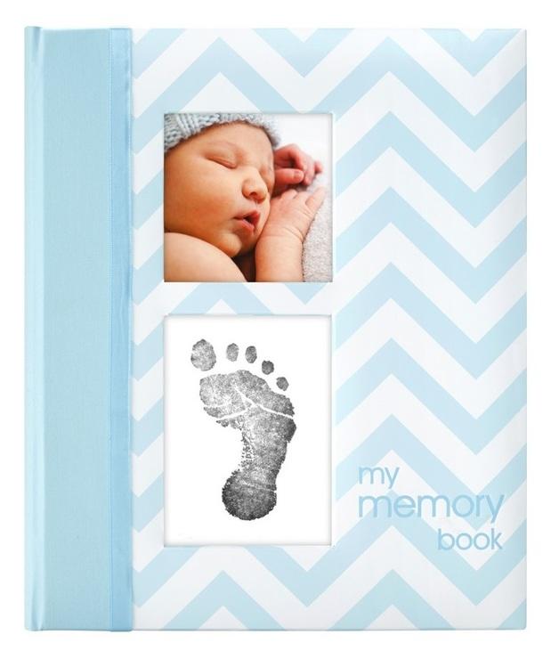 Pearhead: Chevron Baby Book - Blue