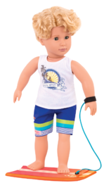 "Our Generation: 18"" Regular Doll - Surfer Gabe image"