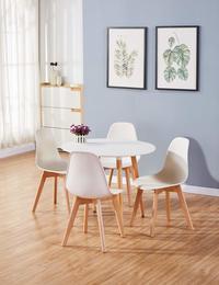 Fraser Country Elegant Round Dining Table - White