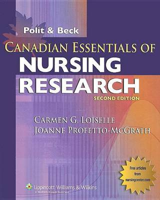 Canadian Essentials of Nursing Research by Carmen G Loiselle image