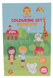 Tiger Tribe: Colouring Set - Day at the Zoo