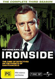 Ironside - Season 3 Fatpack Version (7 Disc Set) on DVD