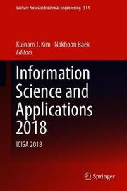Information Science and Applications 2018