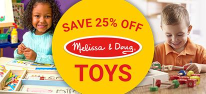 25% off Melissa & Doug!