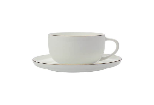 Maxwell & Williams Cashmere Luxe High Rim Demi Cup & Saucer 100ML Gold