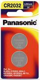 Panasonic Lithium 3V Coin Cell Battery CR2032 - 2 Pack