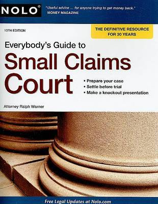 Everybody's Guide to Small Claims Court by Ralph Warner, Attorney image