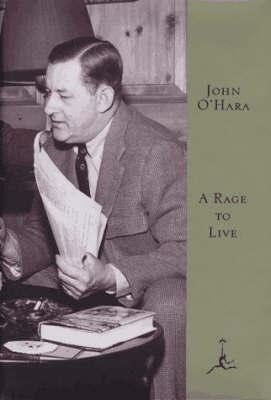 A Rage to Live by John O'Hara image