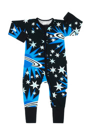 Bonds Zip Wondersuit Long Sleeve - Planet Explosion Black (12-18 Months)