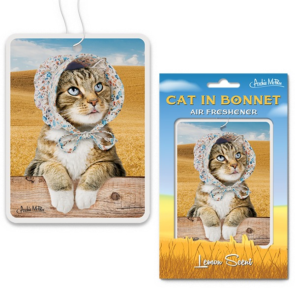 Cat in Bonnet Air Freshener
