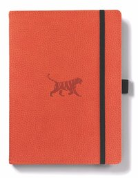 Dingbats Wildlife: A5 Orange Tiger Notebook - Lined