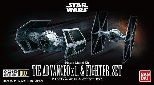 Star Wars Vehicle Model 007: TIE Advanced x1 & Fighter Set - Model Kit