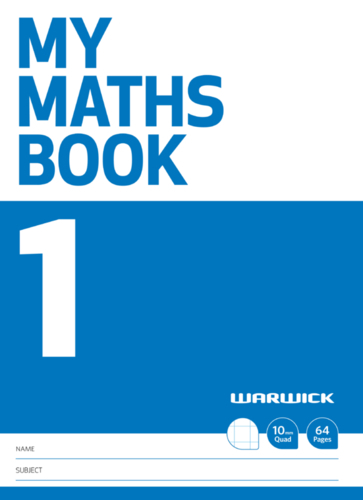 Warwick: My Maths Book #1 - A4+ Exercise Book image
