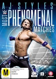 WWE: AJ Styles - Most Phenomenal Matches on DVD image