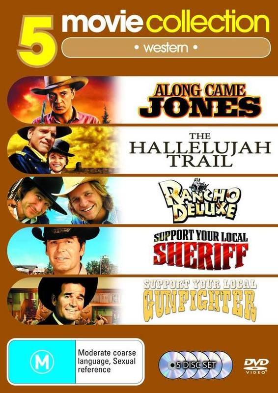Along Came Jones/Hallelujah Trail/Rancho Deluxe/Support Your Local Sheriff/Support Your Local Gunfighter (5 Disc Set) on DVD