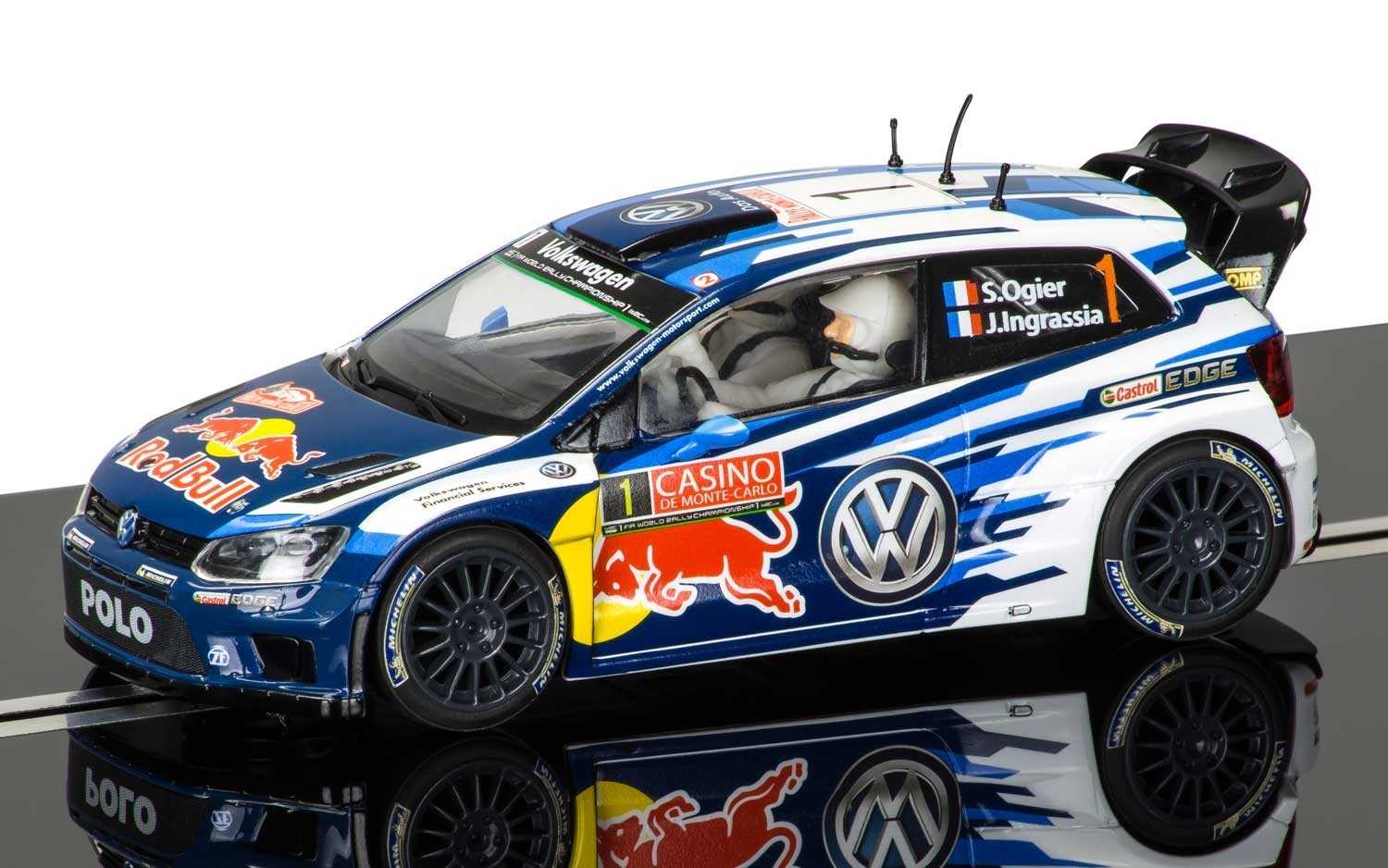 Scalextric Volkswagen Polo WRC Rallye Monte Carlo 2015 Slot Car image