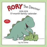 Rory the Dinosaur Family Organiser 2018-2019 17-Month Square Wall Calendar by Liz Climo