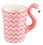 Ziggy The Chevron Tropical Flamingo - Coffee Mug
