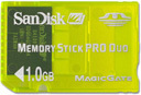 SanDisk 1GB MS Pro Duo Gaming Memory Card For use with Sony PSP