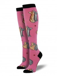 Women's Kitty Love Knee High Socks - Pink