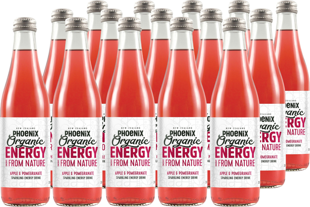 Phoenix Organic Energy - Apple & Pomegranate 330ml (15 Pack)