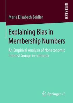 Explaining Bias in Membership Numbers by Marie Elisabeth Zeidler