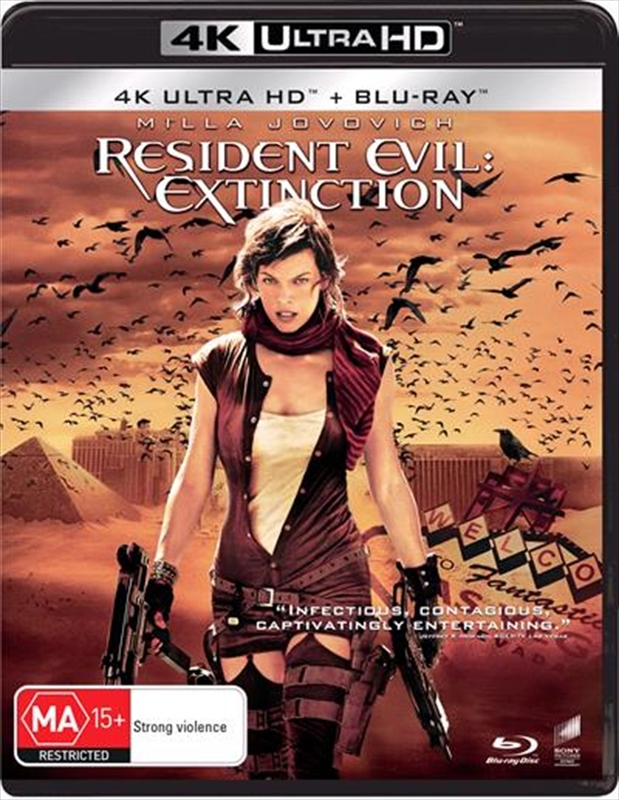 Resident Evil: Extinction (4K UHD + Blu-Ray) on UHD Blu-ray