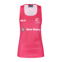 Silver Ferns Ladies Training Singlet - Melon (Size 8)