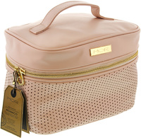 MOR Destination Luxe Monaco Train Case (Ballet Pink Pinpoint)