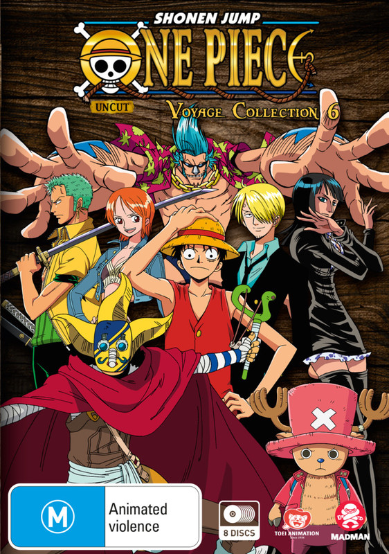 One Piece Voyage - Collection 6 (Episodes 253-299) on DVD