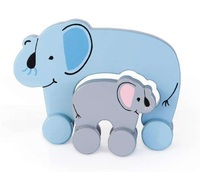 Jack Rabbit Creations: Mummy & Baby Push Toy - Elephant