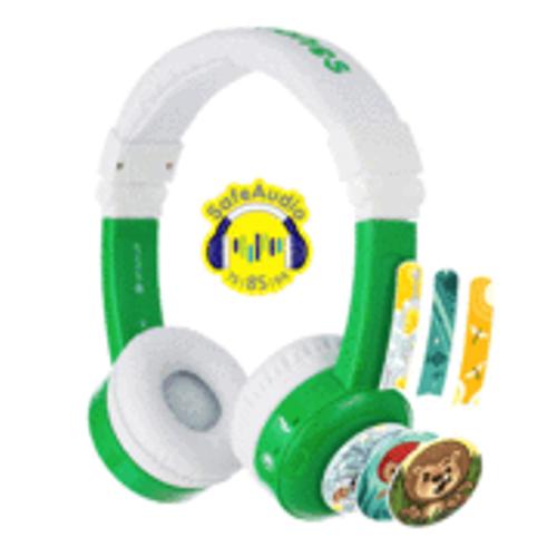 BuddyPhones: Inflight Volume-Limiting Kids Headphones - Green