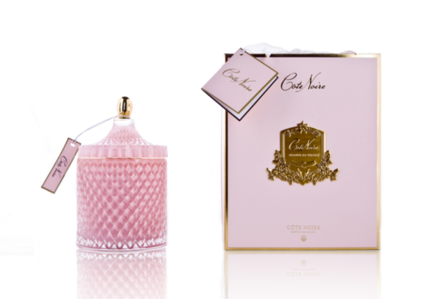 Cote Noire: Grand Art Deco Candle - Pink