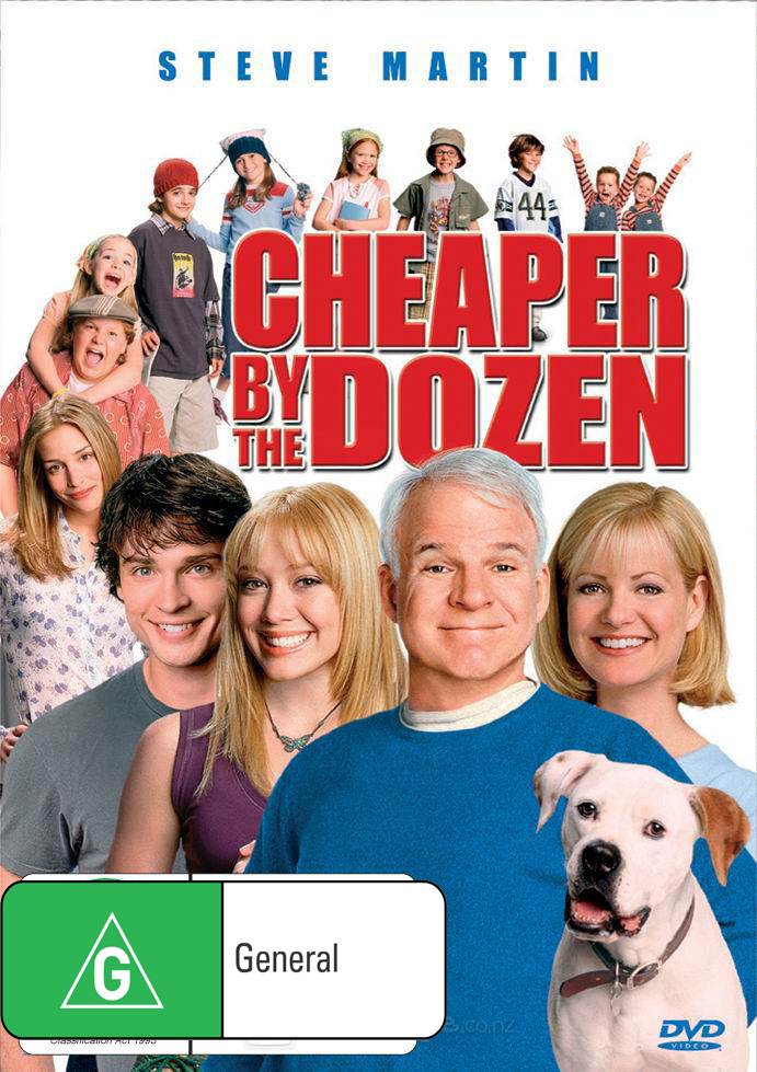 Cheaper By The Dozen on DVD image