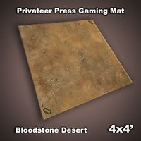 FLG Privateer Press Mat: Bloodstone Desert Neoprene Gaming Mat (4x4)