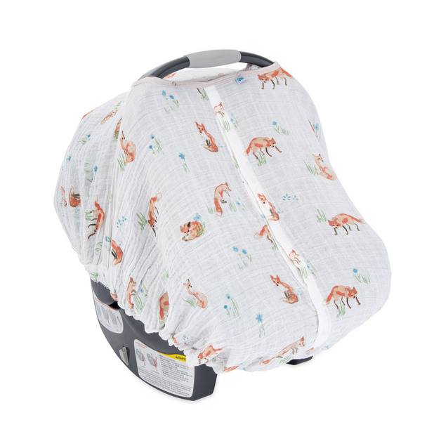 Little Unicorn: Muslin Car Seat Canopy - Fox