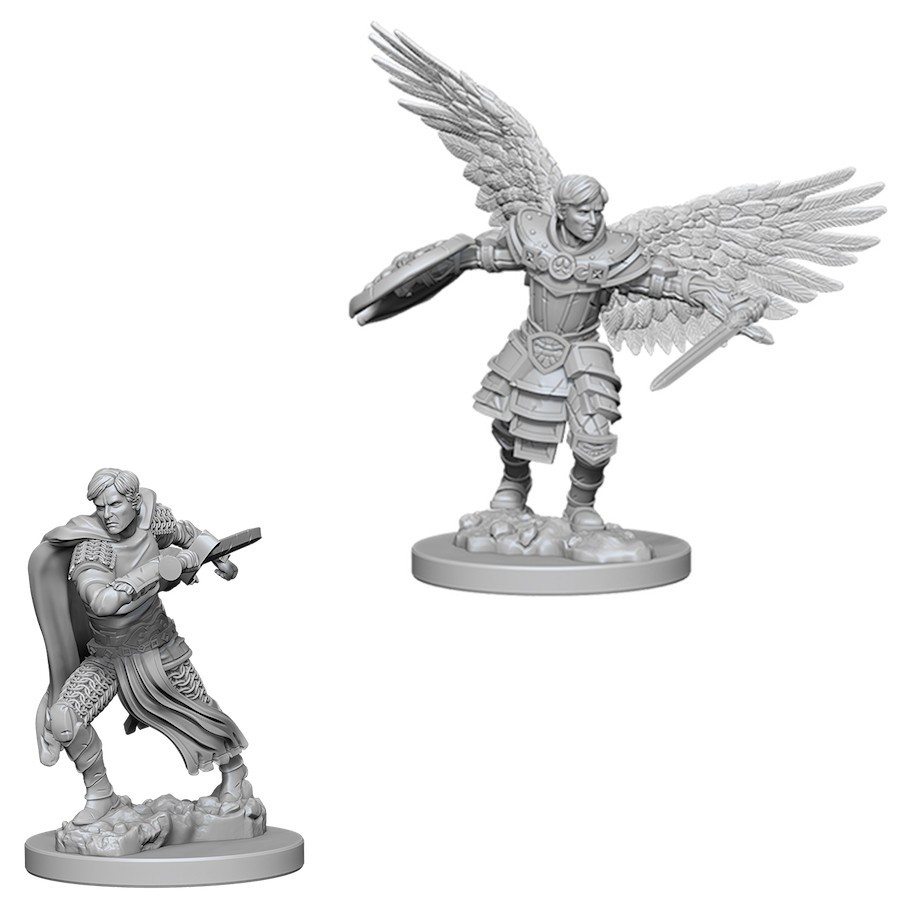 D&D Nolzurs Marvelous: Unpainted Miniatures - Male Aasimar Fighter image