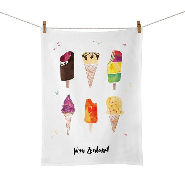 Moana Road: Tea Towel - Ice Cream
