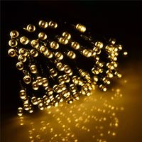 Solar String Lights - 200 LED Warm White Fairy Lights