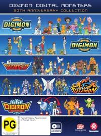 Digimon: Digital Monsters 20th Anniversary Collection (Season 1-5) on DVD