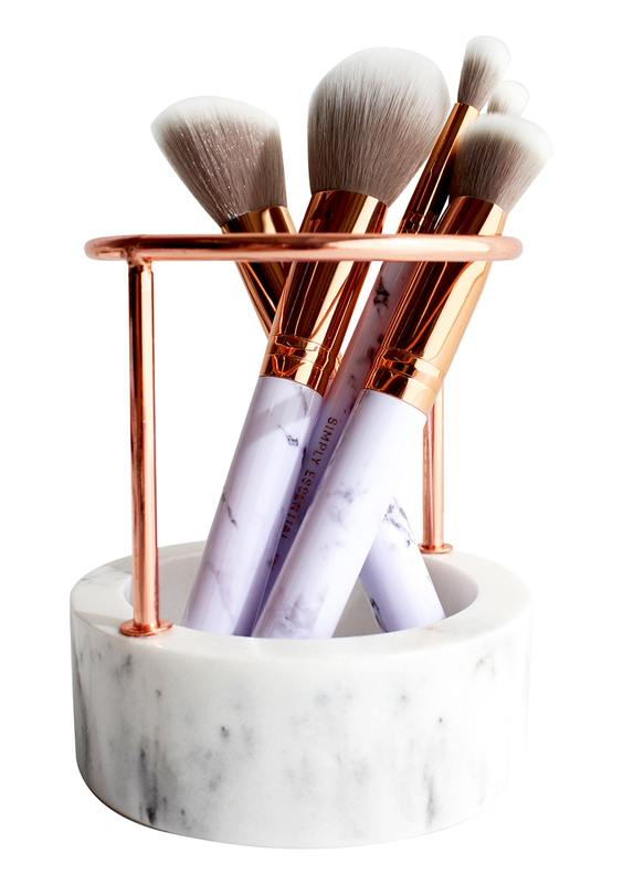 Simply Essential Rose Gold Brush Stand
