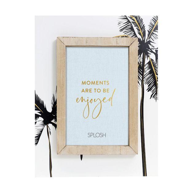 Splosh: Tranquil Golden Palms Frame
