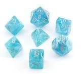 Chessex Signature Polyhedral Dice Set Cirrus Aqua/Silver
