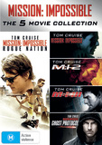 Mission Impossible Box Set (5 Movie Pack) on DVD