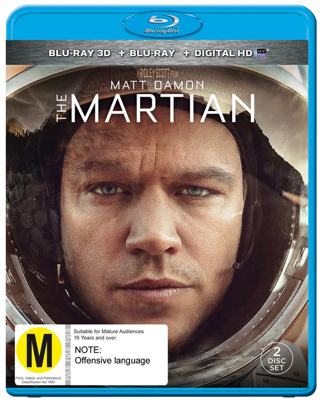 The Martian on Blu-ray, 3D Blu-ray, UV