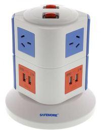 Safemore 2 Level Power Stackr Power Board (Blue/Orange)