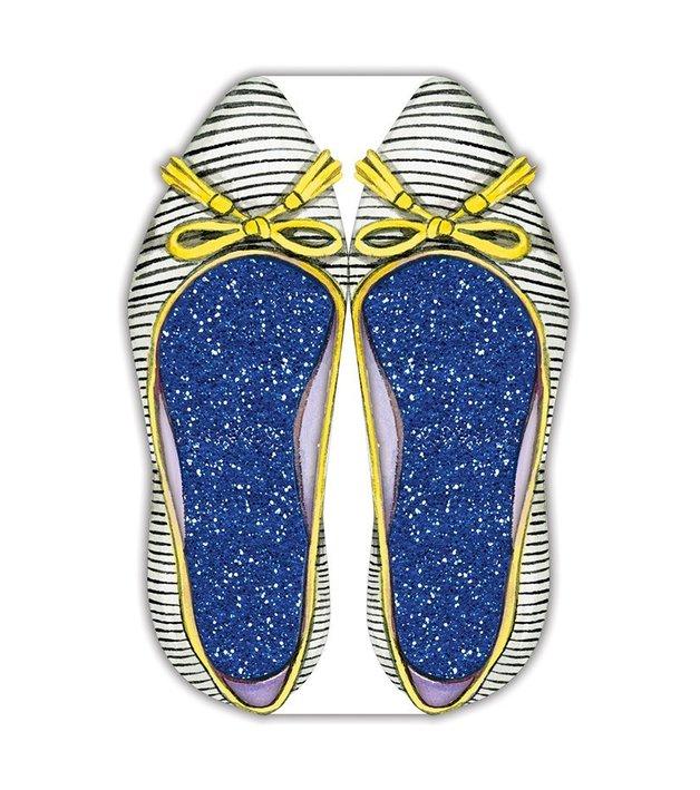 Lady Jayne: Die-Cut Notepad - Stripe Shoe