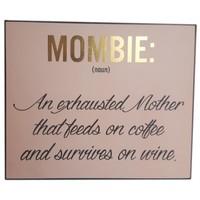 Wooden Plaque - Mombie Gold Foil